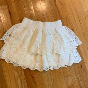 White eyelet Abercrombie skirt